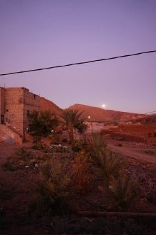 Low rising moon over my village