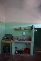My makeshift kitchen