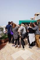 Roof dance party at the quarantine hotel, Rabat