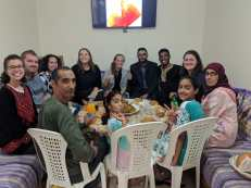 Training group lunch with a fellow trainee's host family!