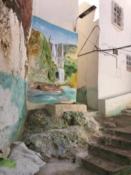 Moulay Idriss street mural