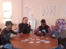 Playing Go Fish as an English activity