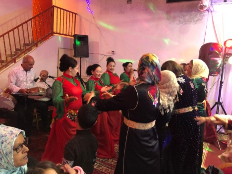 Amazigh dancers at my first Moroccan wedding - this was around 1am and about 35 degrees Fahrenheit.