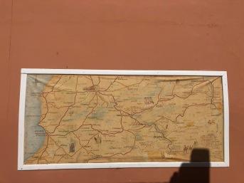 Beautiful map of southern Morocco