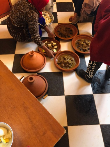Making tagine for a 120 person event
