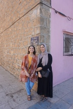 my roommates for our initial 10 day training in Bouznika, Julia and Amal